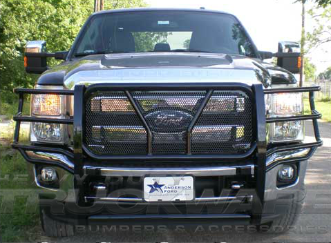 frontier series brush guard ford super duty    heavy duty frontier series grille