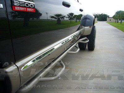 deluxe dually flare side steps available upon order heavy duty truckware bumpers. Black Bedroom Furniture Sets. Home Design Ideas